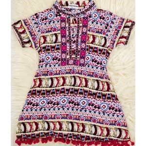 Other - Printed tasseled dress, girls size 5t